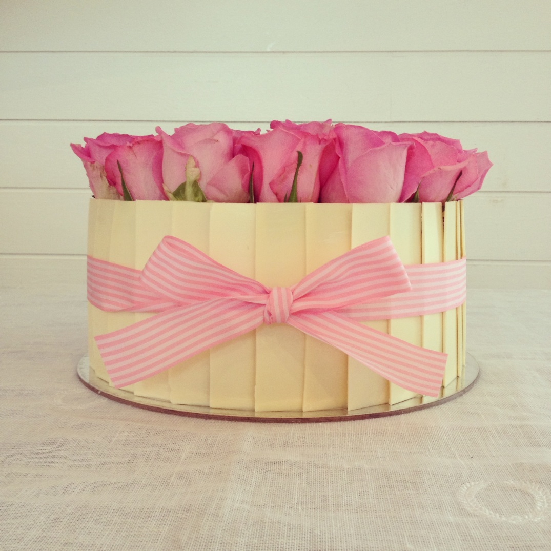 Carrot Pecan Gourmet Cake With Fresh Roses