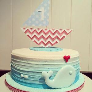 sail boat cake